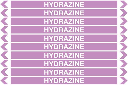 HYDRAZINE - Alkalis / Acids Pipe Markers
