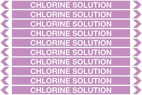 CHLORINE SOLUTION - Alkalis / Acids Pipe Markers
