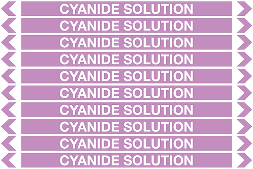 CYANIDE SOLUTION - Alkalis / Acids Pipe Markers