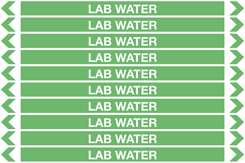 LAB WATER - Water Pipe Markers