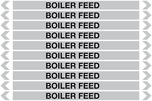 BOILER FEED - Steam Pipe Markers