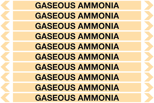 GASEOUS AMMONIA - Gases Pipe Markers