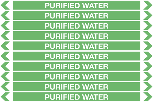 PURIFIED WATER - Water Pipe Markers