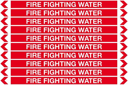 FIRE FIGHTING WATER - Fire Pipe Marker