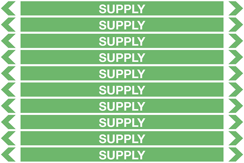 SUPPLY WATER - Water Pipe Markers