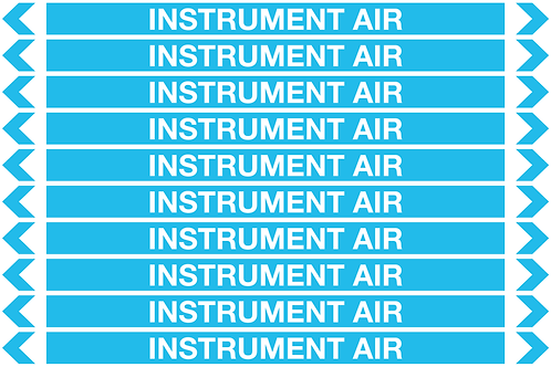 INSTRUMENT AIR - Air Pipe Markers