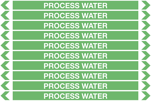 PROCESS WATER - Water Pipe Markers