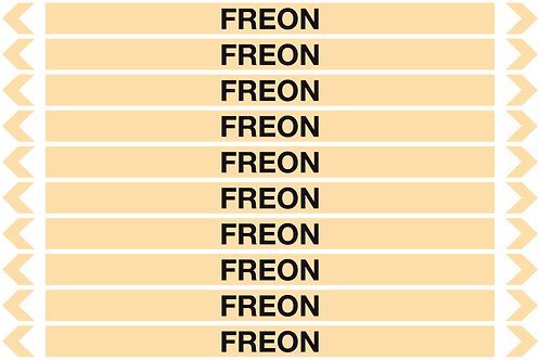FREON - Gases Pipe Markers