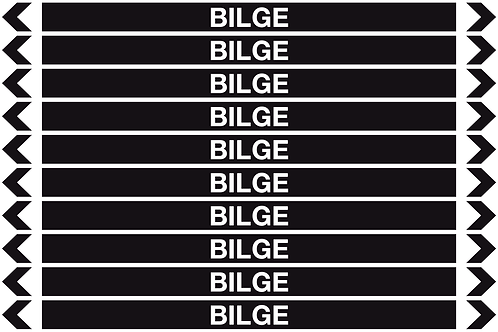 BILGE - Misc. Pipe Markers