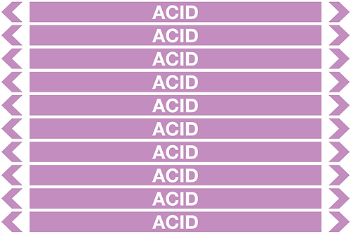 ACID - Alkalis / Acids Pipe Markers