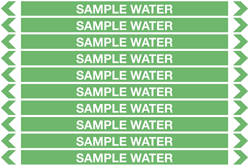SAMPLE WATER - Water Pipe Markers