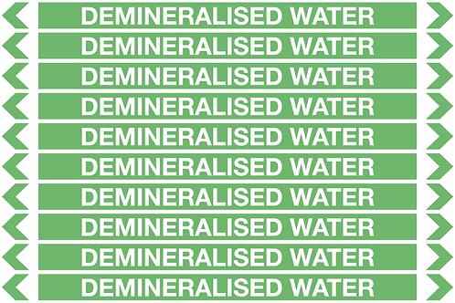 DEMINERALISED WATER - Water Pipe Marker