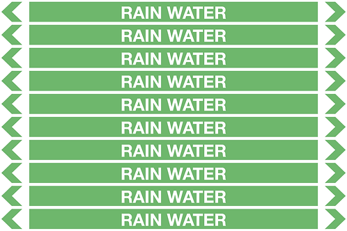 RAIN WATER - Water Pipe Markers