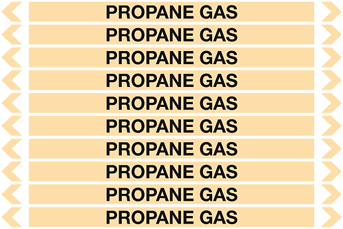 PROPANE GAS - Gases Pipe Markers