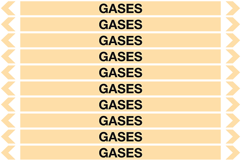 GASES - Gases Pipe Markers