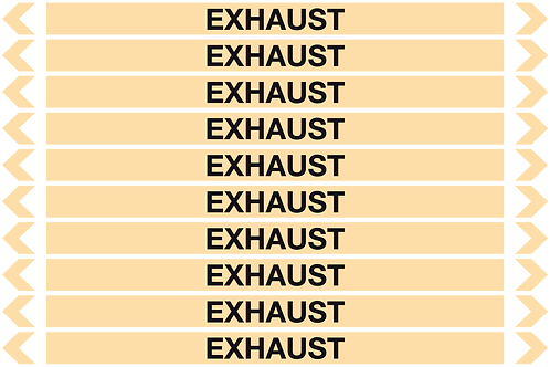 EXHAUST - Gases Pipe Markers