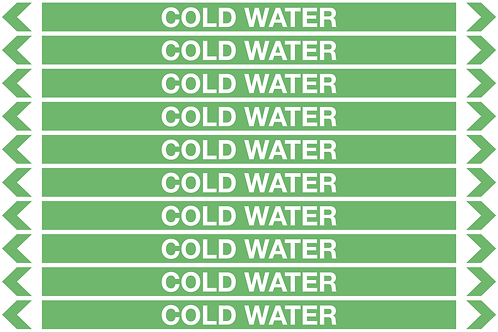 COLD WATER - Water Pipe Marker
