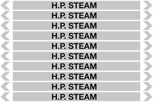 H.P. STEAM - Steam Pipe Markers