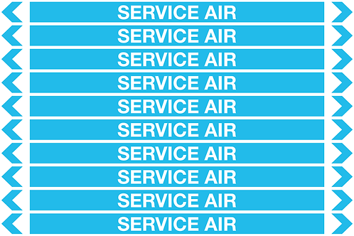 SERVICE AIR - Air Pipe Markers