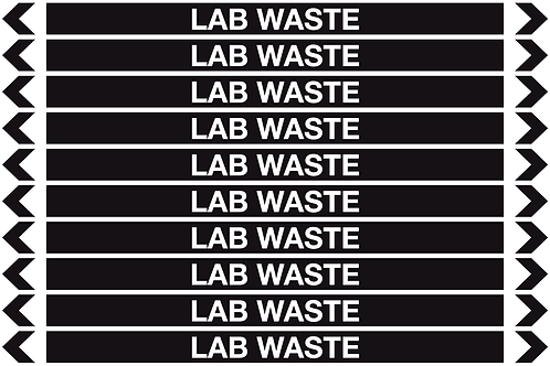 LAB WASTE - Misc. Pipe Markers
