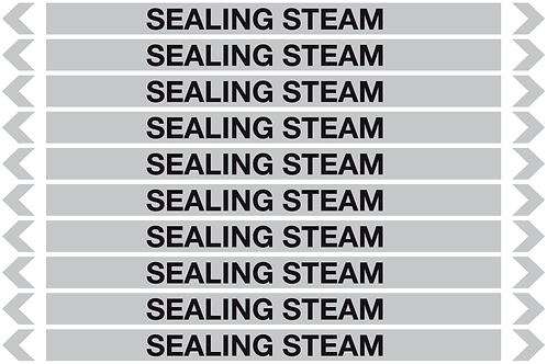SEALING STEAM - Steam Pipe Markers