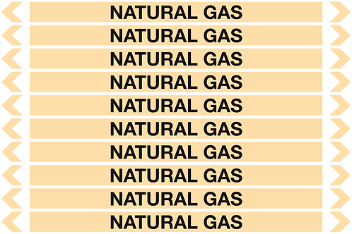 NATURAL GAS - Gases Pipe Markers