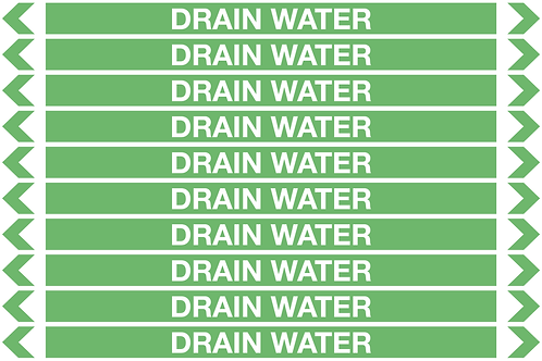 DRAIN WATER - Water Pipe Markers