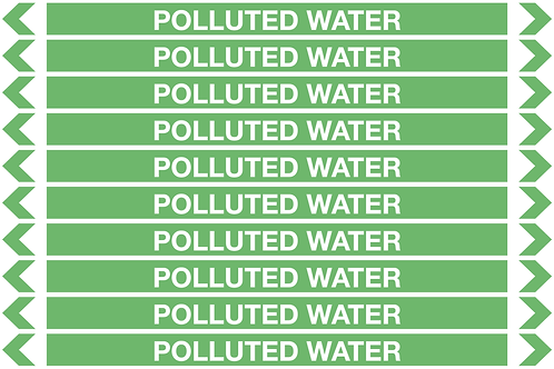 POLLUTED WATER - Water Pipe Markers