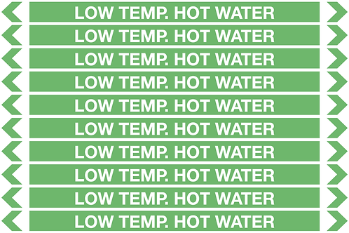 LOW TEMP HOT WATER - Water Pipe Markers