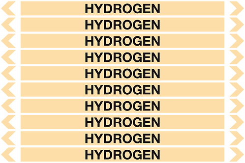 HYDROGEN - Gases Pipe Markers