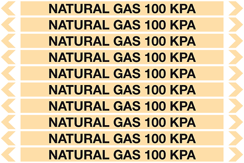 NATURAL GAS 100 KPA - Gases Pipe Markers