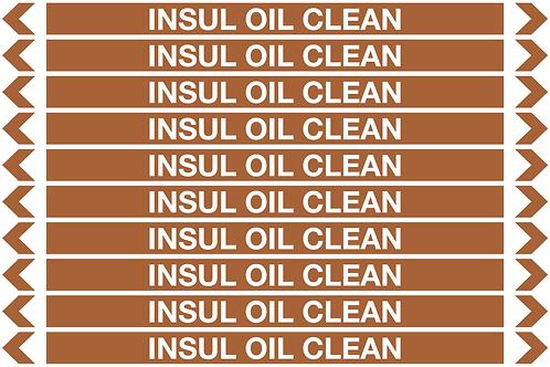 INSUL OIL CLEAN - Oil Pipe Marker