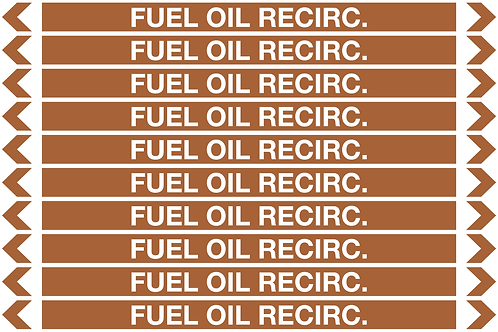 FUEL OIL RECIRC. - Oil Pipe Marker