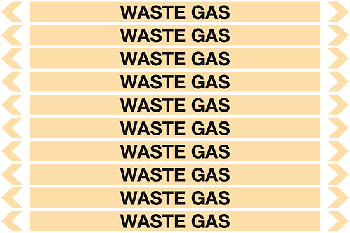 WASTE GAS - Gases Pipe Markers