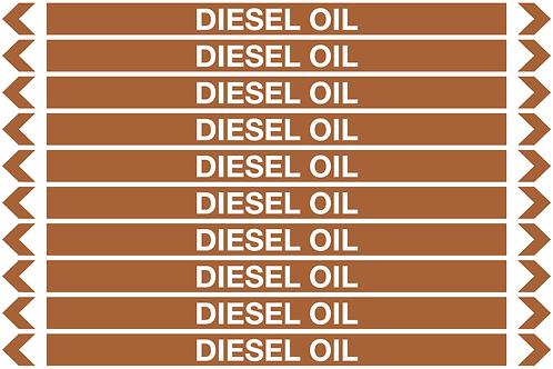 DIESEL OIL - Oil Pipe Marker