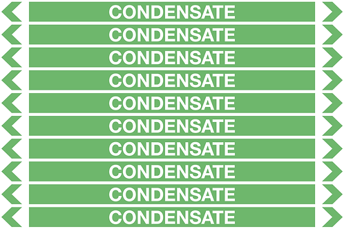 CONDENSATE - Water Pipe Marker