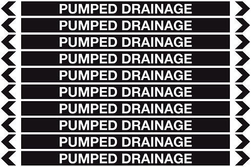 PUMPED DRAINAGE - Misc. Pipe Markers