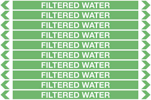 FILTERED WATER - Water Pipe Markers