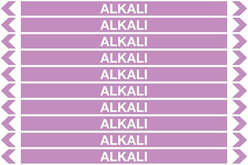 ALKALI - Alkalis / Acids Pipe Markers