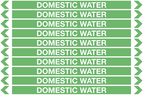 DOMESTIC WATER - Water Pipe Markers