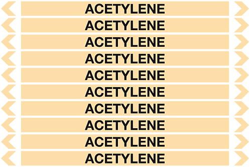 ACETYLENE - Gases Pipe Markers