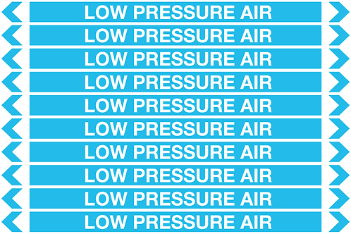 LOW PRESSURE AIR - Air Pipe Markers