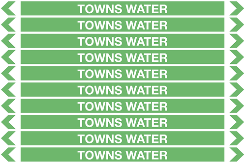 TOWNS WATER - Water Pipe Markers