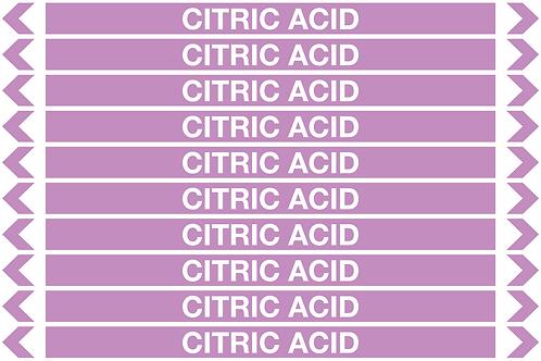 CITRIC ACID - Alkalis / Acids Pipe Markers