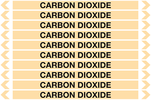 CARBON DIOXIDE - Gases Pipe Markers