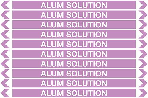 ALUM SOLUTION - Alkalis / Acids Pipe Markers