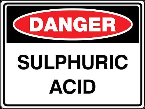 SULPHURIC ACID Danger Safety Sign
