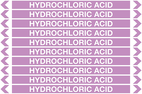 HYDROCHLORIC ACID - Alkalis / Acids Pipe Markers