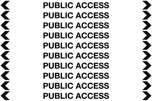 PUBLIC ACCESS - Communication Pipe Markers