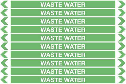 WASTE WATER - Water Pipe Markers
